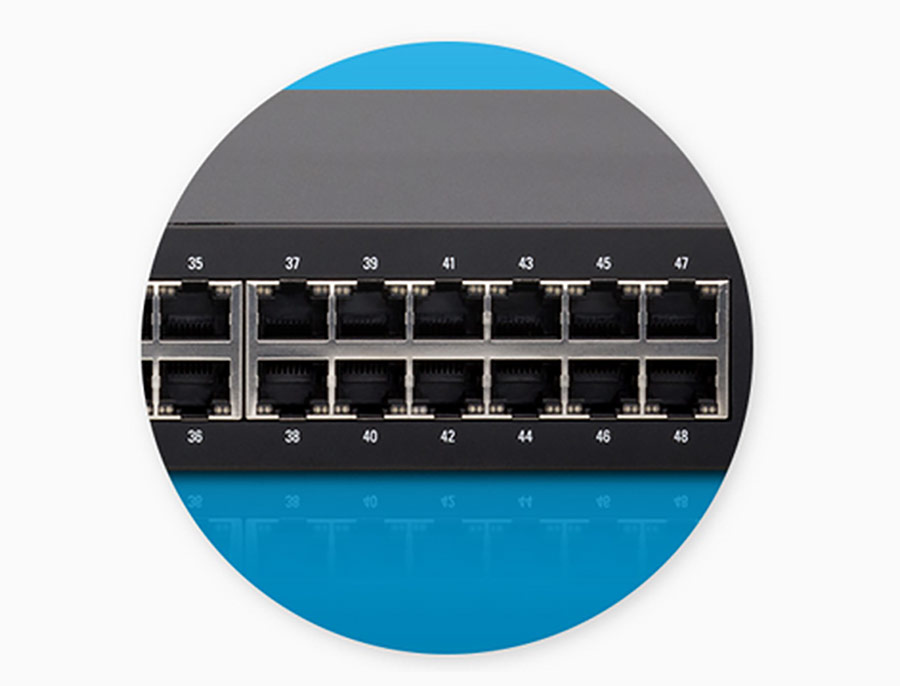 Suporta PoE passivo gigabit IEEE 802.3af/at para alimentar dispositivos