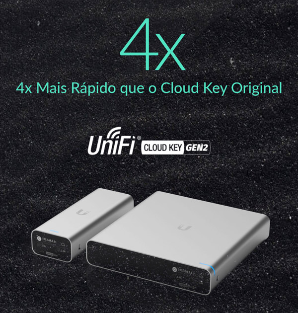 4x mais rápido que o Cloud Key original